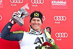 27.01.2013, Ganslernhang, Kitzbuehel, AUT, FIS Weltcup Ski Alpin, Slalom, Herren, Podium, im Bild Sieger Kombination Ivica Kostelic (CRO, 1. Platz) // Winner of combination Ivica Kostelic of Croatia celebrate on podium during the mens Slalom of the FIS Ski Alpine World Cup at the Ganslernhang course, Kitzbuehel, Austria on 2013/01/27. EXPA Pictures © 2013, PhotoCredit: EXPA/ Markus Casna