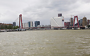 Willemsbrug bridge River Maas water Rotterdam Netherlands
