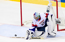 Robert Kristan, goalkeeper of Slovenia during ice-hockey match between Austria and Slovenia of Group G in Relegation Round of IIHF 2011 World Championship Slovakia, on May 7, 2011 in Orange Arena, Bratislava, Slovakia. (Photo By Vid Ponikvar / Sportida.com)