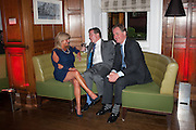 LADY FIONA WARD; TED TURNER; TIM WARD, Rocco Forte's Brown's Hotel Hosts 175th Anniversary Party, Browns Hotel. Albermarle St. London. 16 May 2013