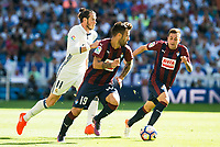 Real Madrid's player Gareth Bale and Eibar FC's player Antonio Luna and Ruben Peña Jimenez during a match of La Liga Santander at Santiago Bernabeu Stadium in Madrid. October 02, Spain. 2016. (ALTERPHOTOS/BorjaB.Hojas)