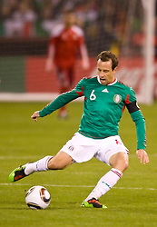 February 24, 2010; San Francisco, CA, USA;  Mexico midfielder Gerardo Torrado (6) during the first half against Bolivia at Candlestick Park. Mexico defeated Bolivia 5-0.