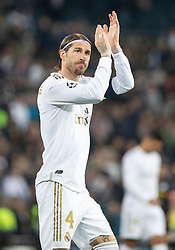 Real Madrid's Sergio Ramos s during the UEFA Champions League round of 16 first leg match Real Madrid v Manchester City at Santiago Bernabeu stadium on February 26, 2020 in Madrid, Sdpain. Real was defeated 1-2. Photo by David Jar/AlterPhotos/ABACAPRESS.COM