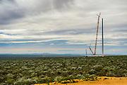 Erection of the wind turbine using crane