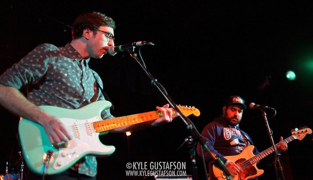 WASHINGTON, DC - January 22nd, 2012 - Martin Courtney and Alex Bleeker of Real Estate perform at the Black Cat in Washington, D.C. The band received critical acclaim for their sophomore album, Days, released in October 2011. (Photo by Kyle Gustafson/For The Washington Post)