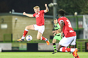 Bristol City's George Dowling controls the ball during the The County Cup match between Forest Green Rovers and Bristol City at the New Lawn, Forest Green, United Kingdom on 23 November 2015. Photo by Shane Healey.