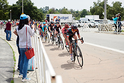 Kasia Niewiadoma (POL) leads the chase on the finishing circuit at Amgen Tour of California Women's Race empowered with SRAM 2019 - Stage 3, a 126 km road race from Santa Clarita to Pasedena, United States on May 18, 2019. Photo by Sean Robinson/velofocus.com