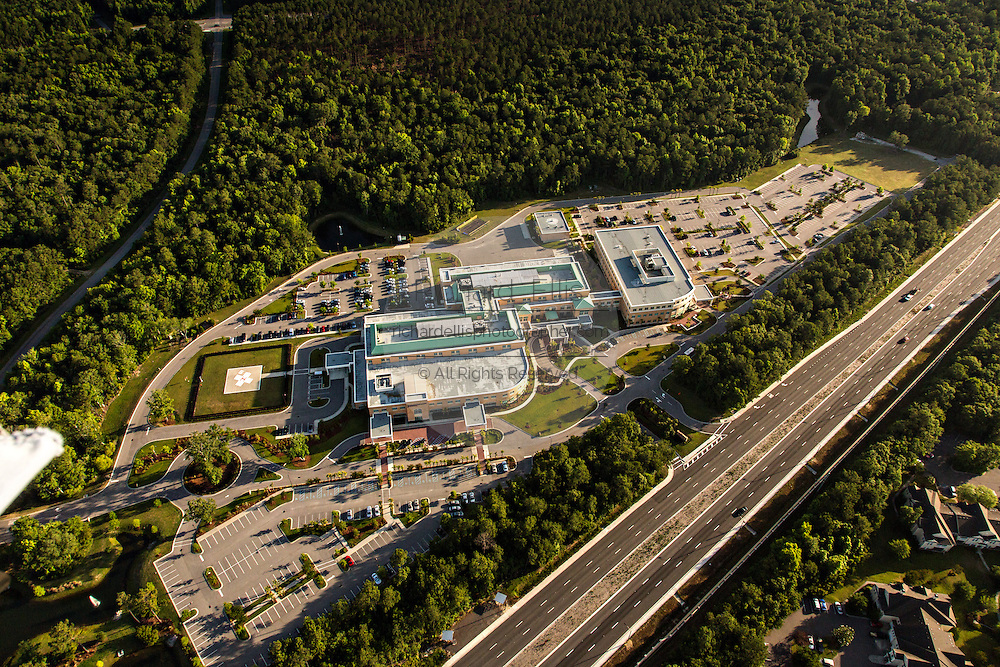 Aerial view of Roper Hospital in Mount Pleasant, SC.