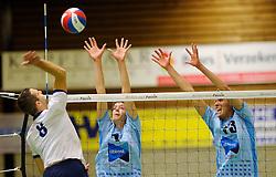 06-10-2012 VOLLEYBAL: SLIEDRECHT SPORT - ABIANT LYCURGUS 2: SLIEDRECHT<br /> Abiant Lycurgus 2 heeft in de Topdivisie Sliedrecht Sport met 1-3 verslagen. De setstanden waren 28-26, 19-25, 21-25 en 20-25 / (L-R) Roy Kroon, Stefan Hebbink, Harnan Heeringa<br /> ©2012-FotoHoogendoorn.nl