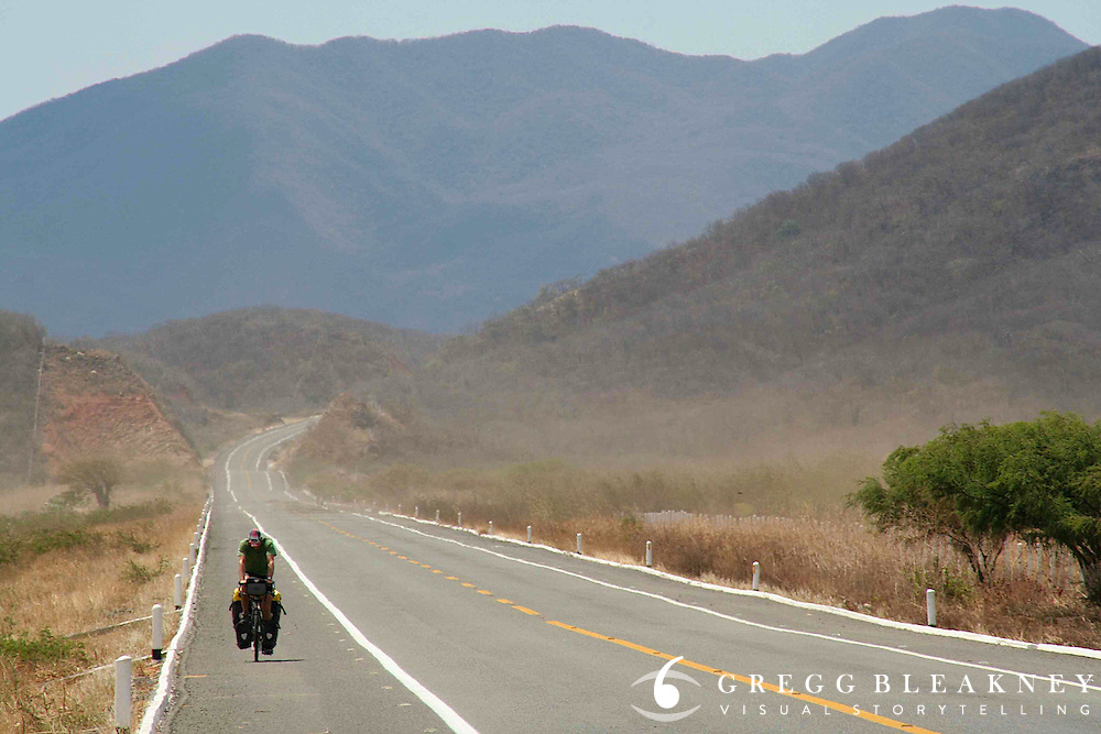 Brook Allen cycles through the sweltering heat of the Isthmus of Tehuantepec - Mexico