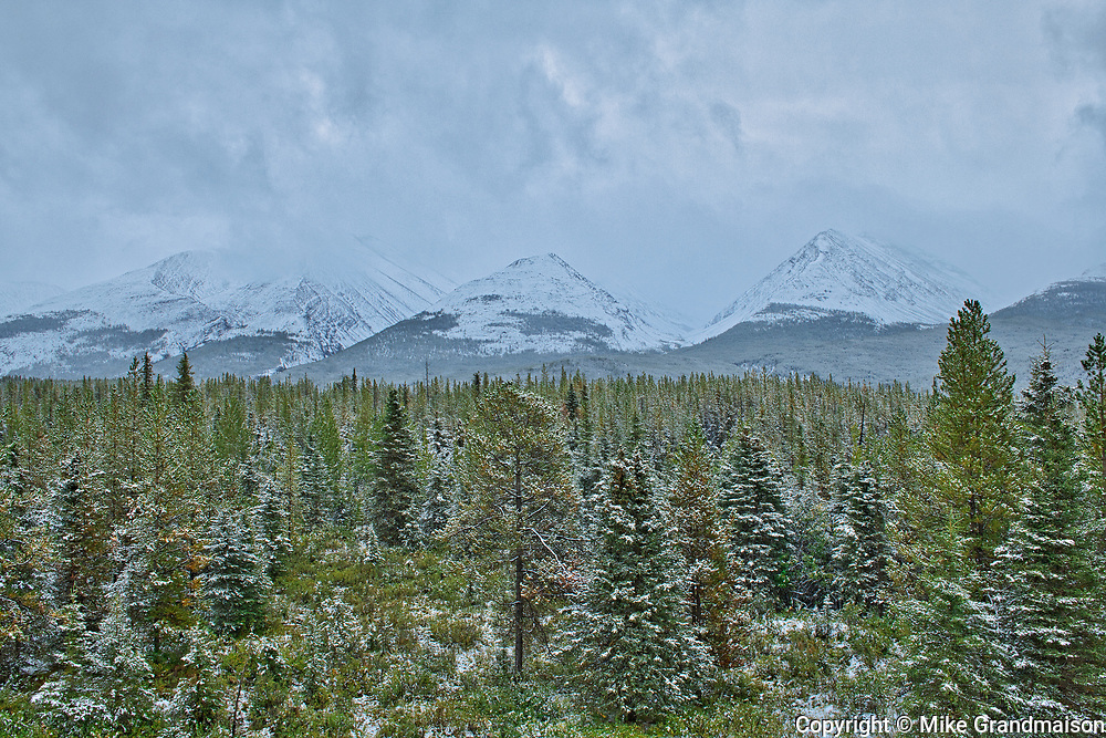 Early (freak) snow storm in the Northern Rocky Mountains<br />Muncho Lake Provincial Park<br />British Columbia<br />Canada