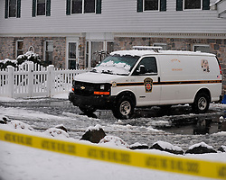 State Police investigate a home in the 400 block of Covered Bridge Road where the body of Jessica Padgett was found on November 26th, 2014, in Northampton.  (Chris Post | lehighvalleylive.com)