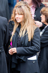 © Licensed to London News Pictures. 03/11/2015. Manchester, UK. Coronation street actress Samia Ghadie at The funeral of Kirsty Howard who was given just weeks to live at the age of four has taken place in Manchester today. Kirsty Howard was one of only two people in the world born with a back-to-front heart. She died on 24 October having spent years raising millions of pounds for Francis House children's hospice in Manchester. Photo credit: Andrew McCaren/LNP