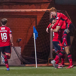Dundee celebrations for 1-2 - Kilmarnock v Dundee - Ladbrokes Premiership - 13 February 2018 - © Russel Hutcheson | SportPix.org.uk