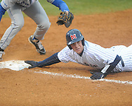 Ole Miss' Stuart Turner (26) is picked off first vs. Memphis at Oxford-University Stadium in Oxford, Miss. on Tuesday, February 26, 2013. Memphis won 4-3. Ole Miss falls to 7-1.