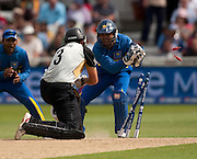Ross Taylor is stumped by Kumar Sangakkara during the ICC World Twenty20 Cup match between New Zealand and Sri Lanka at Trent Bridge. Photo © Graham Morris (Tel: +44(0)20 8969 4192 Email: sales@cricketpix.com)