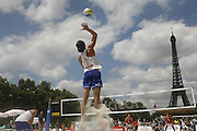 Saturday June 21st 2008. Paris, France.Swatch FIVB World Tour - Henkel Grand Chelem...A international Beach Volley Competition takes place for a week on the Champ de Mars in Paris.
