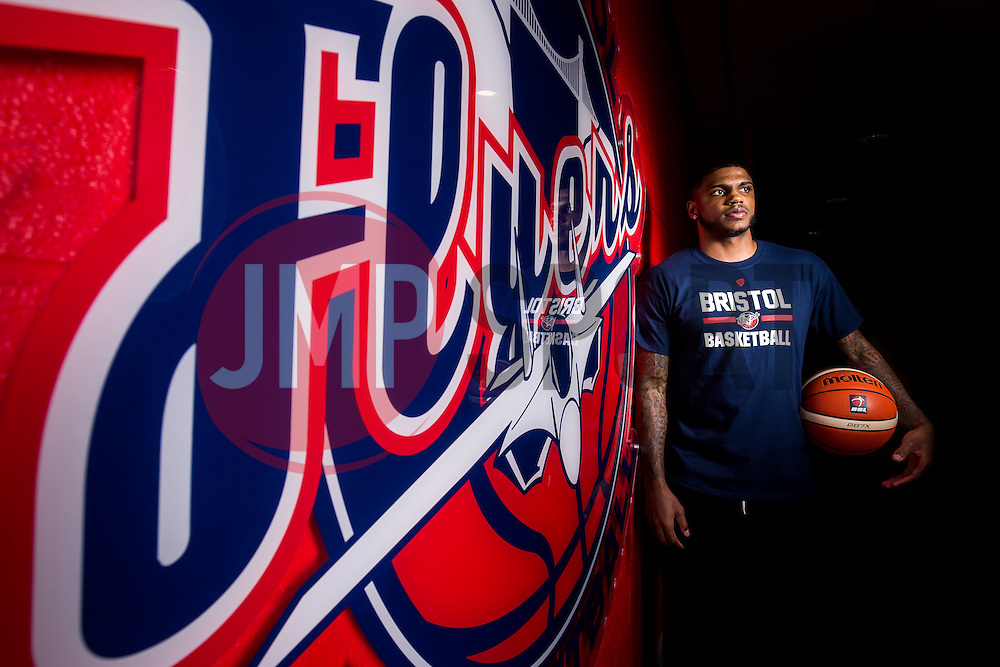 New Bristol Flyers recruit Aaron Cosby poses for a portrait shortly after arriving from the USA - Rogan Thomson/JMP - 30/11/2016 - BASKETBALL - SGS Wise Arena - Bristol, England.