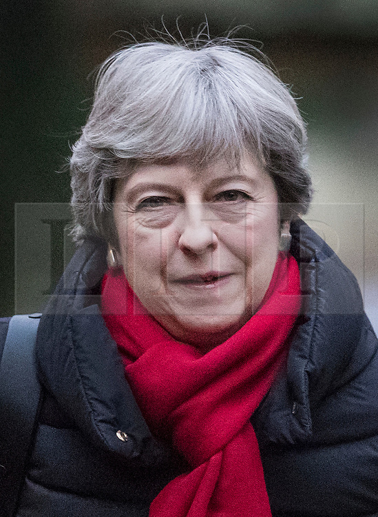© Licensed to London News Pictures. 17/12/2017. Maidenhead, UK. Prime Minister Theresa May attends church. Photo credit: Peter Macdiarmid/LNP