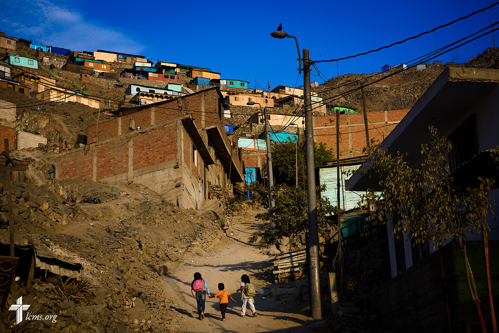 The road up the hill in San Juan de Lurigancho on Tuesday Nov. 7 2017, in Peru.  LCMS Communications/Erik M. Lunsford