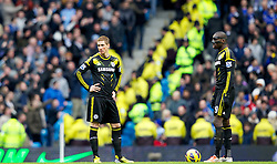 24.02.2013, Etihad Stadion, Manchester, ENG, Premier League, Manchester City vs FC Chelsea, 27. Runde, im Bild Chelsea's Fernando Torres and Demba Ba look dejected as Manchester City score their second goal during the English Premier League 27th round match between Manchester City and Chelsea FC at the Etihad Stadium, Manchester, Great Britain on 2013/02/24. EXPA Pictures © 2013, PhotoCredit: EXPA/ Propagandaphoto/ Vegard Grott..***** ATTENTION - OUT OF ENG, GBR, UK *****