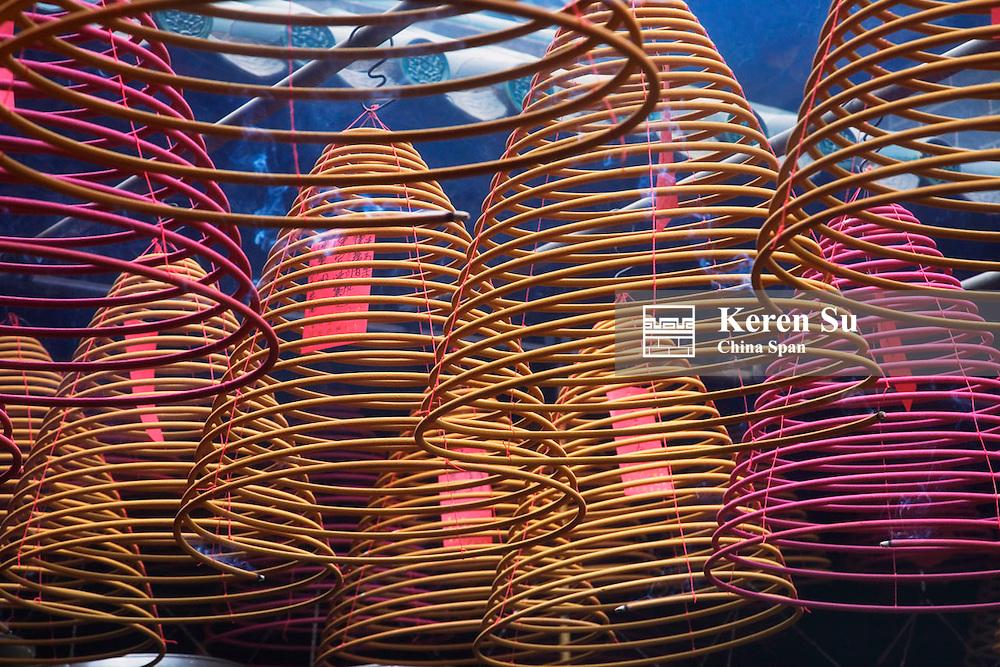 Incenses at Mazu Temple, Hong Kong, China