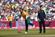 Samit Patel of Notts Outlaws bowling during the Vitality T20 Finals Day 2019 match between Notts Outlaws and Worcestershire Rapids at Edgbaston, Birmingham, United Kingdom on 21 September 2019.