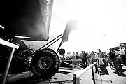 April 22-24, 2016: NHRA 4 Wide Nationals: aTop Fuel car is warmed up