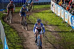 Allen KRUGHOFF (19,USA), 3rd lap at Men UCI CX World Championships - Hoogerheide, The Netherlands - 2nd February 2014 - Photo by Pim Nijland / Peloton Photos