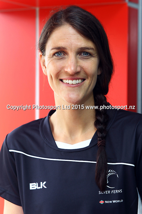Anna Harrison, Netball New Zealand, Silver Ferns and National Development Squad announcement for 2016. Millennium Institute, Auckland. 10 December 2015. Copyright Photo: William Booth / www.photosport.nz