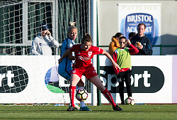 Frankie Brown of Bristol City Women in action against Manchester City Women - Mandatory by-line: Paul Knight/JMP - 09/05/2017 - FOOTBALL - Stoke Gifford Stadium - Bristol, England - Bristol City Women v Manchester City Women - FA Women's Super League Spring Series