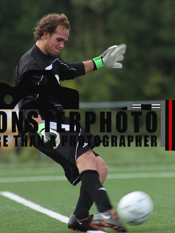 Shippensburg keeper Andrew Foran (1) during a NCAA regular season match against Goldey-Beacom College Wednesday, Oct. 03, 2012 at Kirkwood Soccer Complex...Special to Monsterphoto/SAQUAN STIMPSON