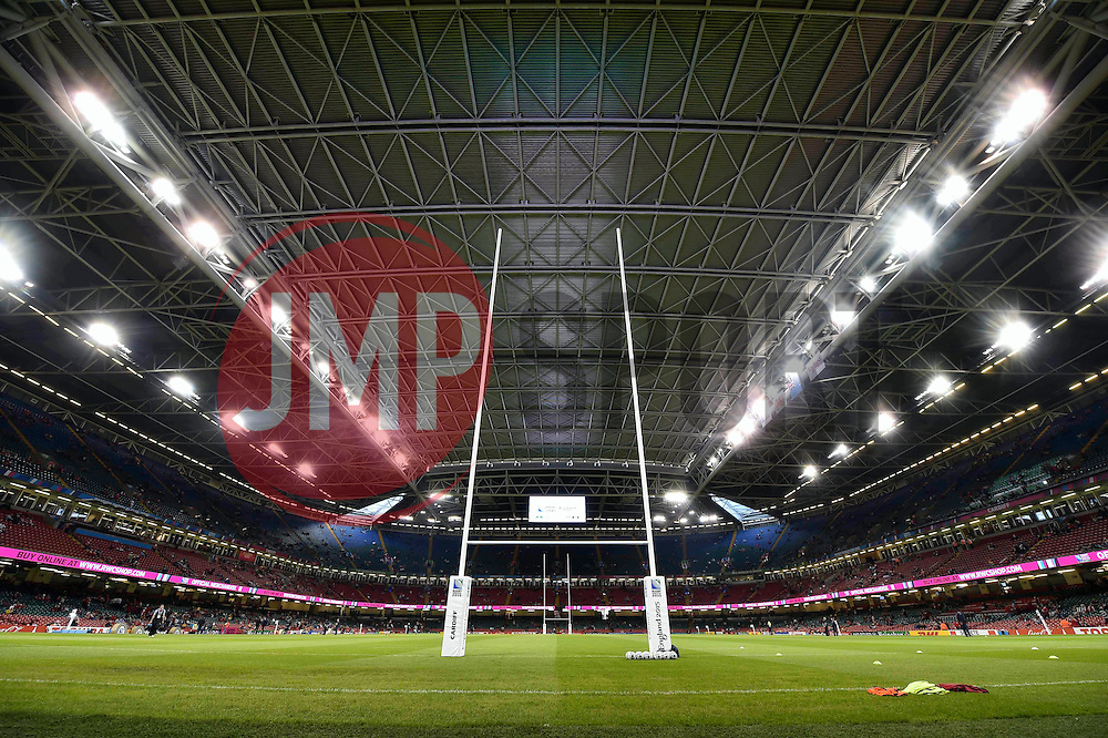 A general view of the Millennium Stadium with the roof closed - Mandatory byline: Patrick Khachfe/JMP - 07966 386802 - 01/10/2015 - RUGBY UNION - Millennium Stadium - Cardiff, Wales - Wales v Fiji - Rugby World Cup 2015 Pool A.