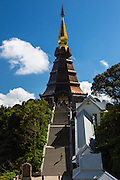 Naphamethinidon, King Stupa, Dedicated to the King of Thailand, Chiang Mai; Doi Inthanon National Park; Thailand