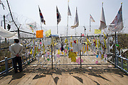 Imjingak. Freedom Bridge, a railway bridge decorated with reunification wishes by South Koreans.
