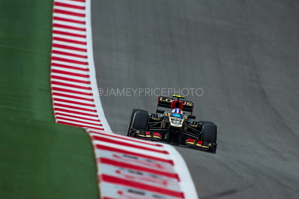 November 15- 17, 2013. Austin, Texas. United States Grand Prix 2013: Romain Grosjean, Lotus F1 Team