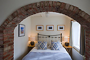 A room at The Durham Ox is ready for guests, in Crayke, Yorkshire, England, United Kingdom.