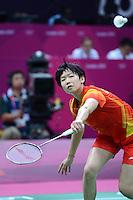 Wang Xin, China, Womens Singles, Olympic Badminton London Wembley 2012