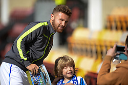 Matt Taylor of Bristol Rovers poses for a picture with a fan. - Mandatory by-line: Alex James/JMP - 17/09/2016 - FOOTBALL - Coral Windows Stadium - Bradford, England - Bradford City v Bristol Rovers - Sky Bet League One