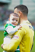 Ofir and baby Sun Marciano after the Ladbrokes Scottish Premiership match between Hibernian and Rangers at Easter Road, Edinburgh, Scotland on 13 May 2018. Picture by Kevin Murray.