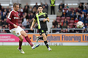 Northampton Town midfielder Matt Taylor (31) looks to release the ball during the EFL Sky Bet League 1 match between Northampton Town and Bury at Sixfields Stadium, Northampton, England on 29 October 2016. Photo by Dennis Goodwin.