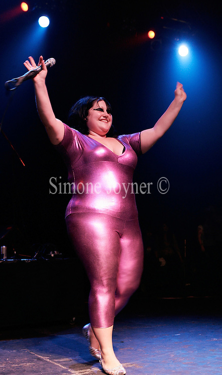 LONDON - SEPTEMBER 13: Beth Ditto from The Gossip perfoms on stage at the Kentish Town Forum on September 13, 2007 in London, England. (Photo by Simone Joyner/Getty Images) *** Local Caption *** Beth Ditto