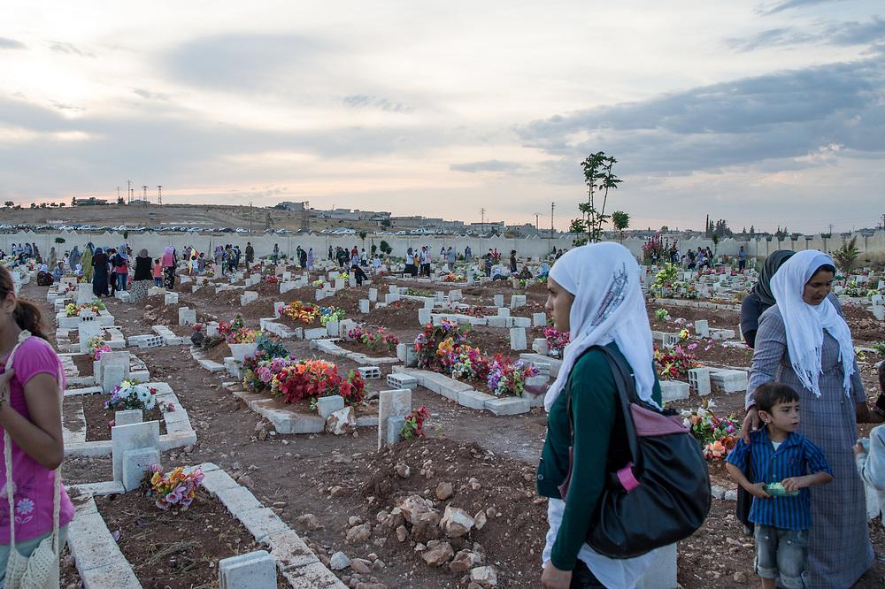 Martyrs' Cemetery of Kobanê. Kobanê (Ayn al-Arab), Syria, June 15, 2015
