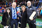 Chris Dunphy and his family as he retires from his role as Rochdale Chairman after 30 years at the club during the EFL Sky Bet League 1 match between Rochdale and Bradford City at Spotland, Rochdale, England on 29 December 2018.