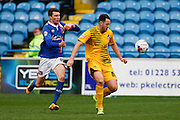 Carlisle United Midfielder Jack Stacey battles in the midfield during the Sky Bet League 2 match between Carlisle United and Bristol Rovers at Brunton Park, Carlisle, England on 28 March 2016. Photo by Craig McAllister.