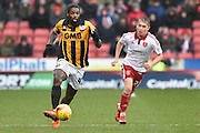 Anthony Grant of Port Vale and Sheffield United midfielder Louis Reed  during the Sky Bet League 1 match between Sheffield Utd and Port Vale at Bramall Lane, Sheffield, England on 20 February 2016. Photo by Ian Lyall.