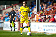AFC Wimbledon defender Callum Kennedy (23) in action  during the EFL Sky Bet League 1 match between Scunthorpe United and AFC Wimbledon at Glanford Park, Scunthorpe, England on 5 August 2017. Photo by Simon Davies.