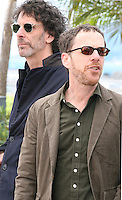 Joel Coen, Ethan Coen.at the Coen brother's new film 'Inside Llewyn Davis' photocall at the Cannes Film Festival Sunday 19th May 2013