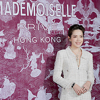 Taiwanese actress Tiffany Ann Hsu Wei-ning attends the CHANEL 'Mademoiselle Prive' Exhibition Opening Event on January 11, 2018 in Hong Kong, Hong Kong. Photo by Kam Kwok Concord Wong / S3studio