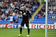 John Ruddy, the Norwich city goalkeeper in action.Skybet football league championship match, Cardiff city v Norwich city at the Cardiff city Stadium in Cardiff, South Wales on Saturday 13th Sept 2014<br /> pic by Andrew Orchard, Andrew Orchard sports photography.
